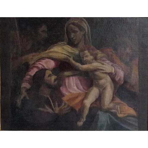 188 - Continental School (19th / 20th century): a religious group, unsigned, oil on canvas, 34.5 by 44.5cm...
