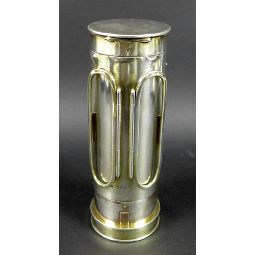 40 - A Victorian silver carriage candle lamp, made for Lord Rosebery, retailed by R&S Garrard, Panton Str...