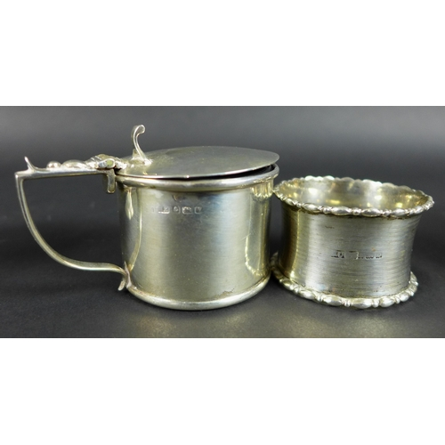 24 - A pair of Victorian silver salts, possibly George Unite and Sons, Birmingham 1866, together with a p...