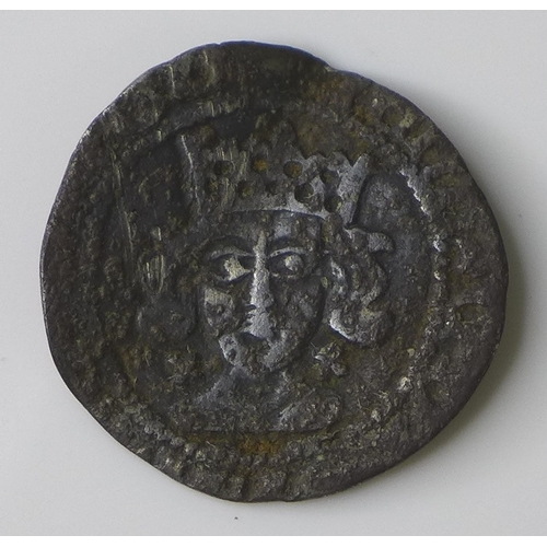 49 - A silver hammered British coin, possibly Richard III penny, 16mm, 0.75g....