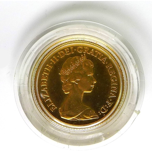 60 - An Elizabeth II gold proof sovereign, 1980, with box....