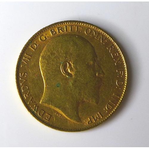 52 - An Edward VII gold half sovereign, 1907....
