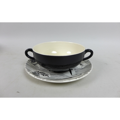 28 - A mid 20th century Ridgway, Homemaker pattern part tea service, eighty five pieces total, with coffe...