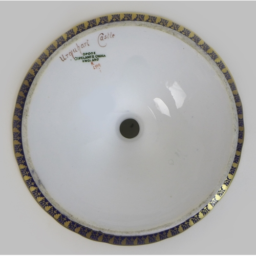 40 - A Spode Copelands China 'landscape views' part dessert service, circa 1900, each painted with a high...