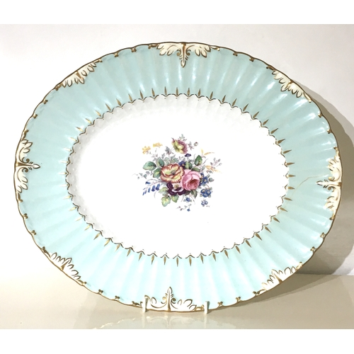16 - A Royal Crown Derby bone china part dinner service, decorated with moulded frilled and foliate clasp...