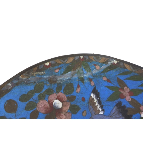 86 - A group of thirteen Japanese cloisonné items including five Meiji period, Ginbari vases largest 18cm...