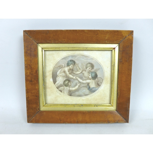 234 - A group of six miniature pictures, comprising three 19th century watercolours, one of a little girl ...