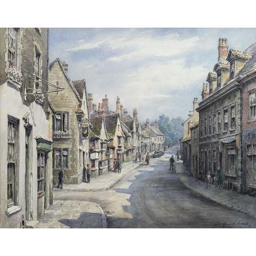 257 - Wilfrid Rene Wood (British, 1888-1976): a view of Stamford, depicting a particularly fine detailed v...