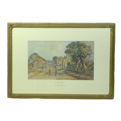 271 - John Joseph Cotman (British, 1814-1878): 'The Road to Yarmouth', watercolour and pencil, signed lowe...