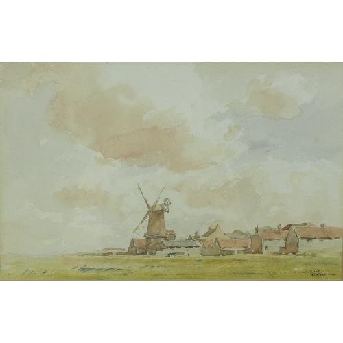 262 - Arthur Gerald Ackermann RI (British, 1876-1960): 'Cley Mill, Norfolk', signed lower right, titled ve...