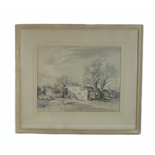 261 - Arthur Edward Davies RBA, RCA (British, 1893-1988): 'Burgh Mill', signed lower right, watercolour, g...