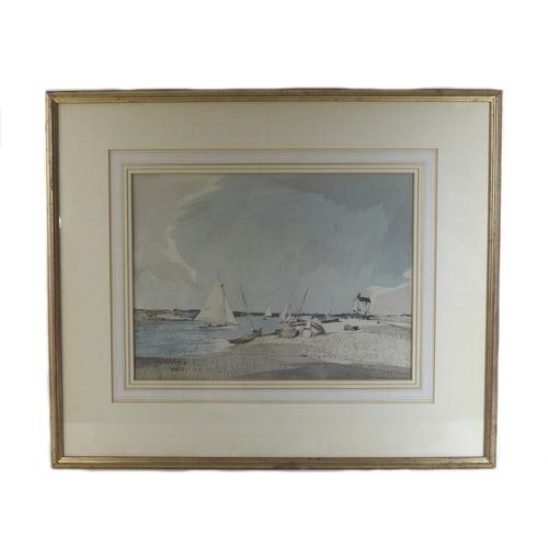 265 - Arthur Edward Davies RBA, RCA (British, 1893-1988): 'Yacht Racing at Blakeney', signed lower right, ...