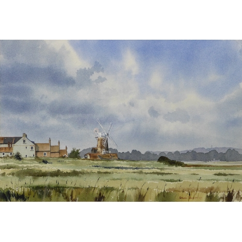 259 - Adrian Taunton (British, b. 1939): 'Cley next the Marsh', showing the windmill at Cley, signed and d...