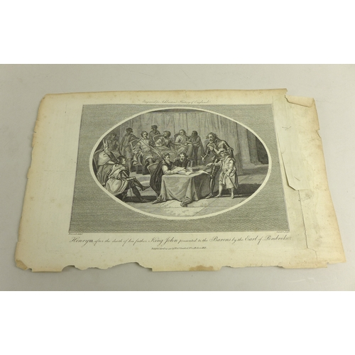 29 - A collection of 18th century George III engravings, by W & J Straitfords, all dated 1792 and 1793, e...