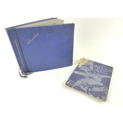 32 - A stamp album dating from the 1940's, containing a variety of World stamps, including China, Russia ...
