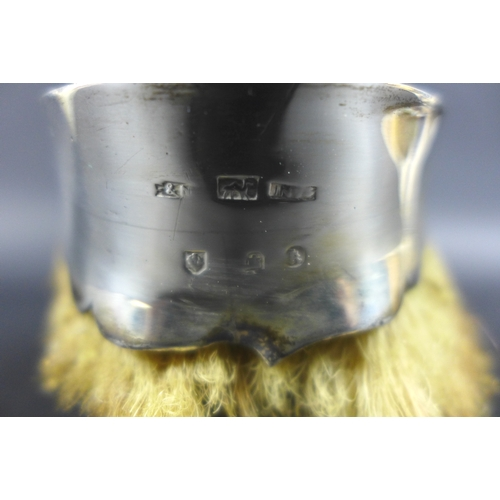 49 - A Scottish silver mounted horse's hoof ashtray, marks rubbed, probably late 19th century, 14 by 8 by...