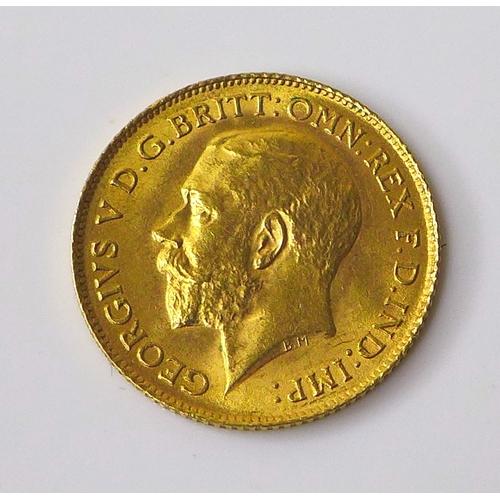 108 - A George V gold half sovereign, 1913.