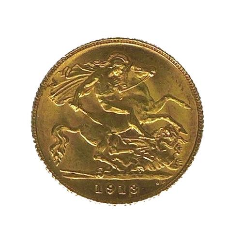 107 - A George V gold half sovereign, 1913.