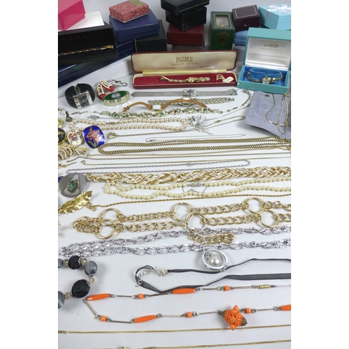 181 - A large collection of vintage and later costume jewellery, including a Butler and Wilson 'Ruby Slipp...