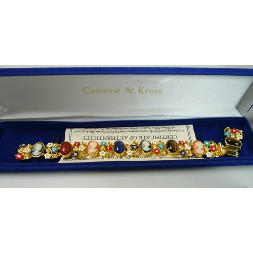 189 - A quantity of Camrose & Kross costume jewellery, comprising of brooches, bracelets and earrings, inc...