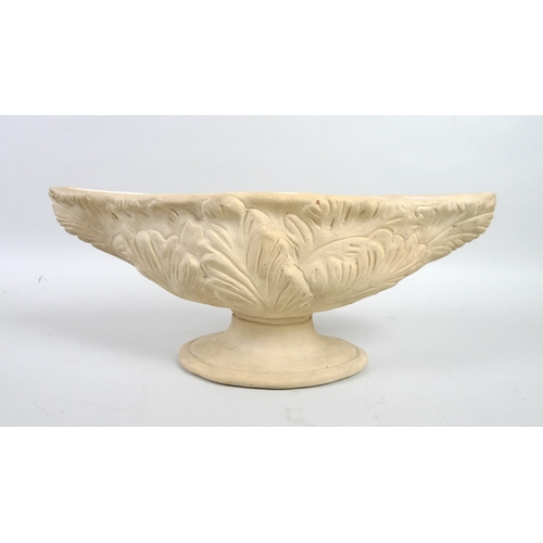 18 - A Constance Spry designed vase, with foliate relief design, stamped to base, 40 by 15.7 by 13.8cm....