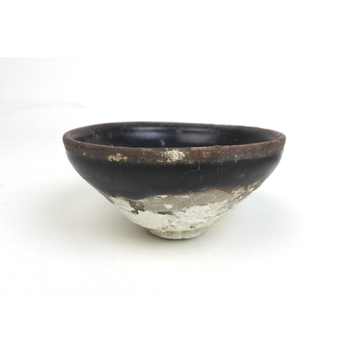 92 - Six Chinese stoneware shipwreck tea bowls, with dark brown glaze, possibly from the Ka Mau wreck, So...