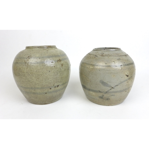 88 - A group of Chinese porcelain and stoneware, a Song style celadon bowl with underglaze decoration rai...