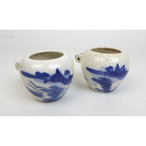 96 - A group of Chinese porcelain items, including a Yuan style blue and white stem cup, 11.3 by 11cm hig...