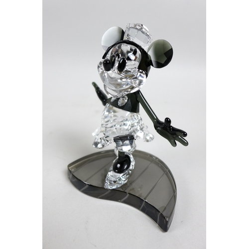 11 - Swarovski Crystal Walt Disney Annual Edition 2013 figures of Mickey and Minnies Mouse entitled Steam...