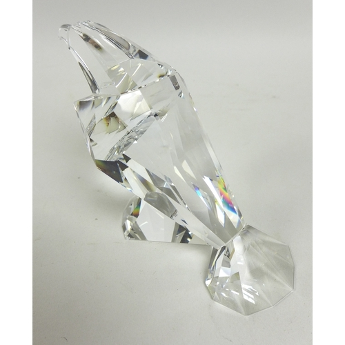 12 - A group of three Swarovski Crystal animals, comprising The Turtledoves, 'Amour', Annual Edition 1989...