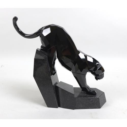 16 - Swarovski Soulmates, Power of Elegance rare Limited Edition figure of a jet black crystal panther, n...
