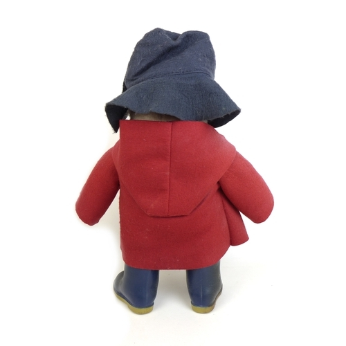 133 - A 1970s Paddington Bear soft toy, by Gabrielle Designs with hat duffel coat and label, 50cm high (in...