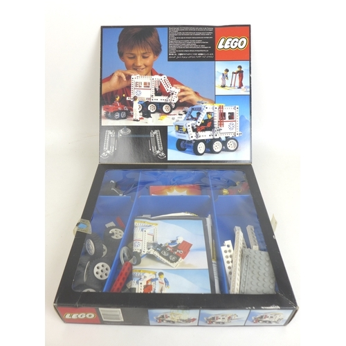 142 - A collection of eleven opened 1980s early 1990s Lego and Technical Lego part sets with original boxe...