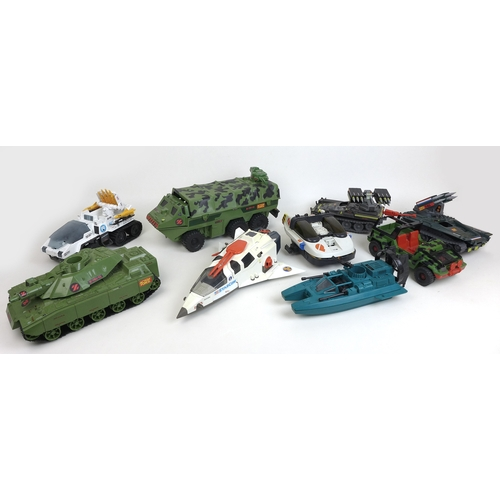 143 - A group of 1980s Action Force and Star-Com toys, including action figures, vehicles and some accesso...