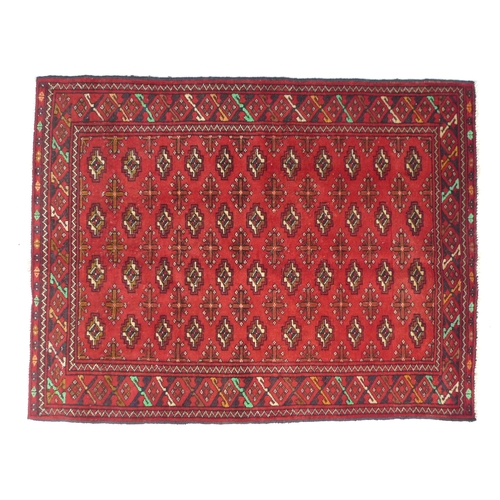286 - A Baluchi rug, 124 by 92cm....