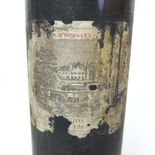 214 - Vintage Wine: three bottles of Chateau Lafite-Rothschild, 1961, Pauillac, Premier Grand Cru Classe, ...