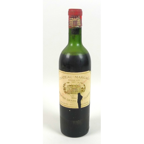 213 - Vintage Wine: a bottle of Chateau Margaux, 1964, Premier Grand Cru Classe, U: mid shoulder....