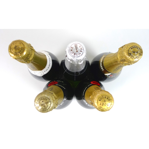 223 - Vintage Champagne: a bottle of Moet & Chandon champagne, circa 1960's, a bottle of Moet & Chandon Br...