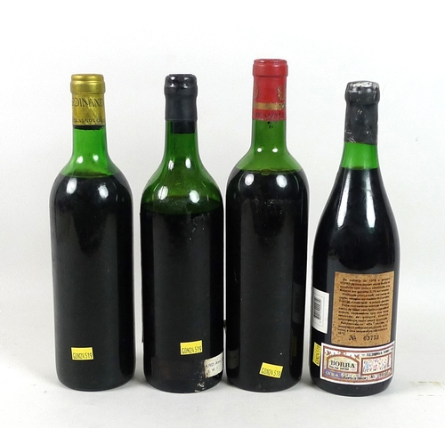 203 - Vintage Wine: four bottles of red wine, comprising a bottle of Chateau Bellegrave, Grand Cru, Saint-...