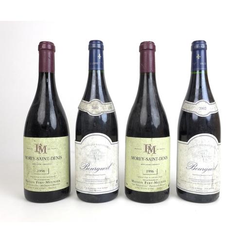 202 - Vintage Wine: comprising two bottles of Maison Fery-Meunier Morey-Saint-Denis 1996, and two bottles ...