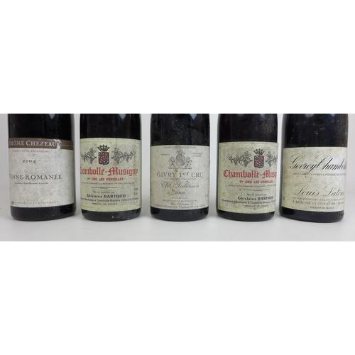 208 - Vintage Wine: a mixed parcel of five bottles, comprising a bottle of Jerome Chezeau Vosne-Romanée, 2...
