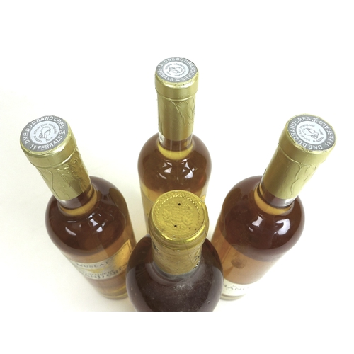 199 - Vintage Wine: a bottle of Chateau Tucau Barsac, Sauternes, 1979, together with three bottles of Musc...