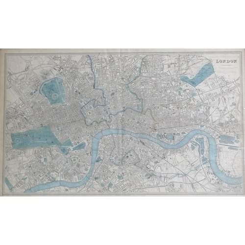 235 - A Map of London, hand coloured engraving, 'Drawn & Engraved from Authentic Documents & Personal Obse...