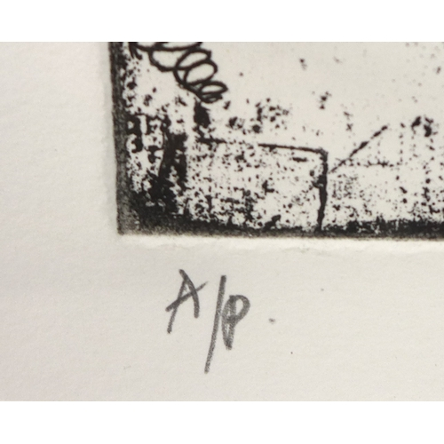 236 - After Elizabeth Blackadder, Artist proof etching of Irises, signed and mark 'A/P' in pencil, 21.5 by...