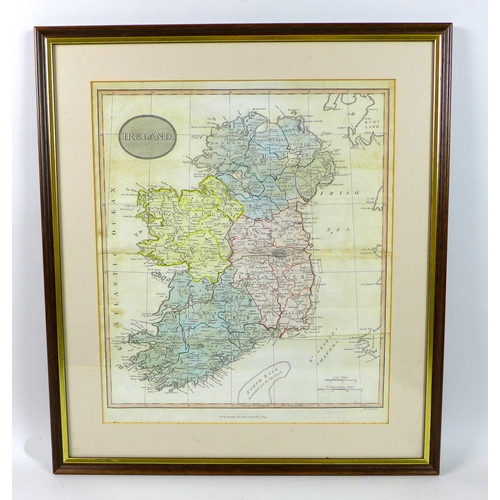 231 - After Christopher Saxton & William Kip: a 17th century map of Nottingham, later hand coloured, 27.8 ...
