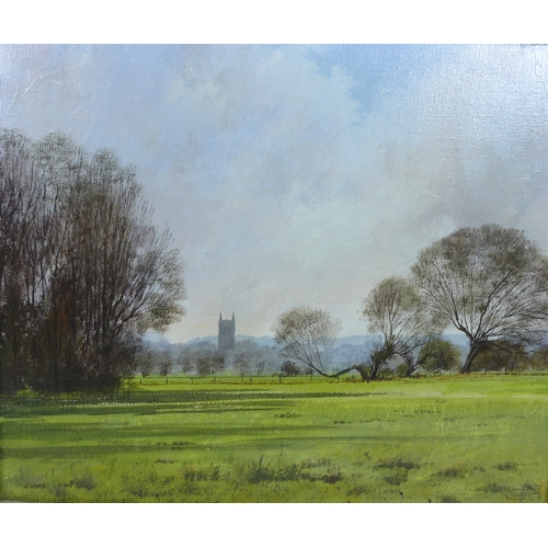 259 - Clive Madgwick (British, 1934-2005): 'Dedham Church', in Essex, signed and dated 1977 lower right, o...