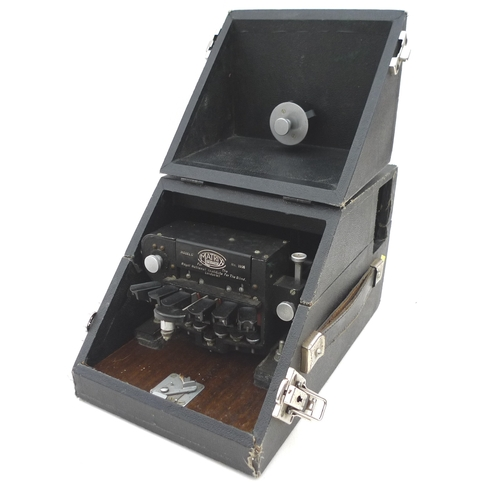 1 - An early 20th century portable Matrix Model G braille typewriter....