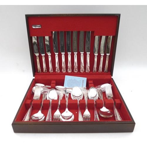 2 - An Osborne canteen of silver plated flatware....