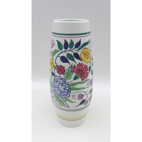 46 - A large Poole pottery vase, in 'BN' pattern, 15 by 40.3cm high....
