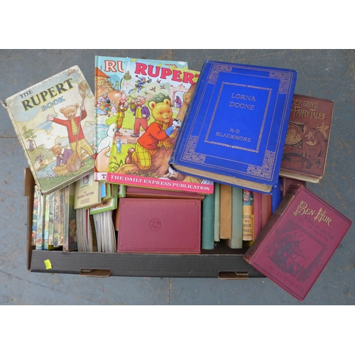 81 - A collection of books and collectables, including Charles Dickens and children's literature, WW2 era...